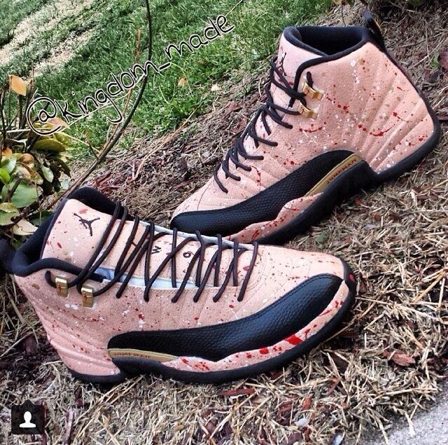 superior quality 06f6c d921b Custom Jordan 12s – TAKEOVER SNEAKERHEADS